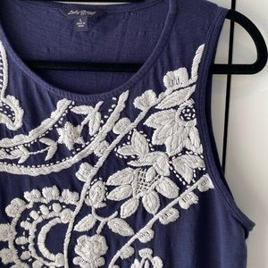 Lucky Brand Embroidered Tank Top - Size L